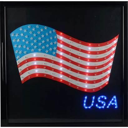 Usa Sign Flag Led Favorites 19in Global