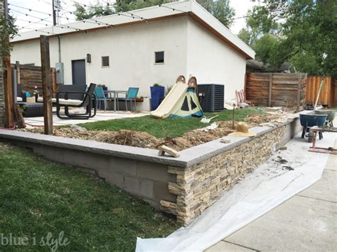 retaining wall styles outdoor style backyard evolution part 5 making the yard feel twice as big blue i style