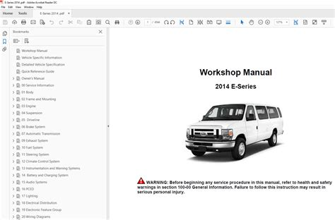 online service manuals 2012 ford e series security system ford e series 2012 2014 factory repair manual