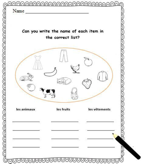 95 best images about french printable worksheets on