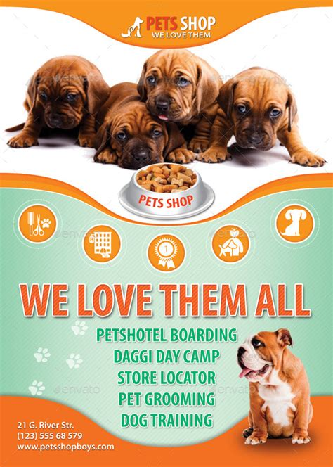 pets store flyer template   min graphicriver