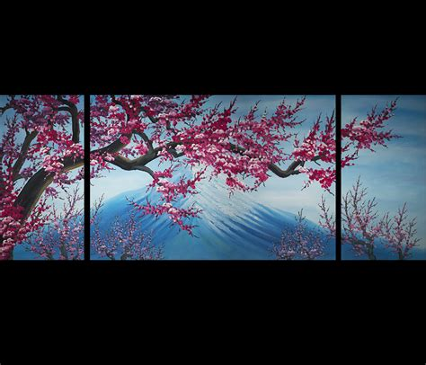 More royalty free art decor design images free download for commercial usable,please visit pikbest.com. Cherry Blossom Canvas Wall Art Modern Abstract Art Home Decor   Cherry blossom painting, Oil ...