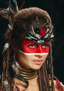 Cool makeup looks a little native American don't you think ...