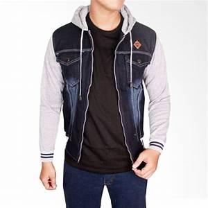 Jual Gudang Fashion Jeans JAK 2046 Jaket Pria - Navy Online - Harga u0026 Kualitas Terjamin | Blibli.com