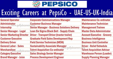 Exciting Careers At Pepsico
