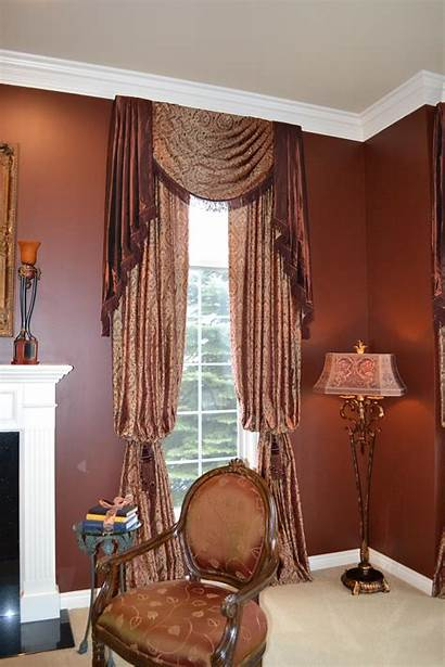 Drapery Luxury Treatments Treatment Tall Window End