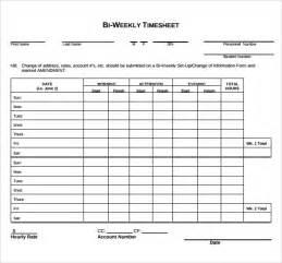 Bi-Weekly Timesheet Template