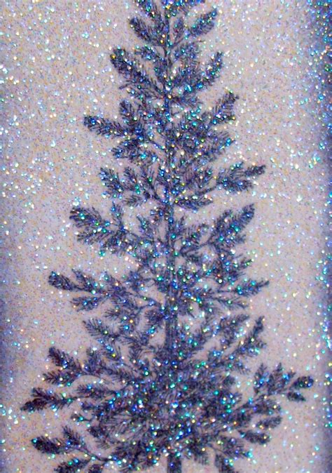 flower sparkle sparkly tree merry christmas card 52 cct