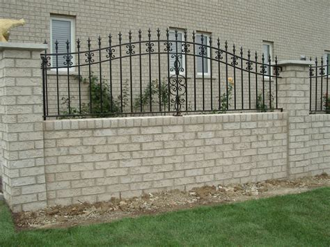 decorative concrete pillars fence gates iron gates and fences designs