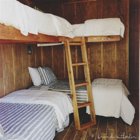 cottage loft bed bunkhouse beds that my hubby built done