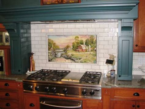 painted kitchen tiles uk rural cooker on tiles painted tiles 6979