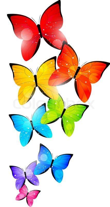 rainbow butterfly clipart border   cliparts