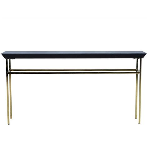 black glass console table black glass and gold metal console table at 1stdibs