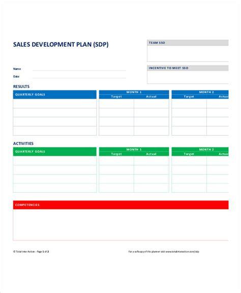 sales plan template personal sales plan templates 5 free pdf format free premium templates