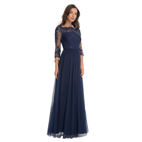 chi chi saskia maxi dress navy l born2style fashion store