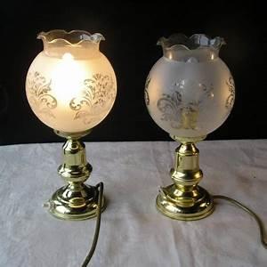 Lampe En Cuivre : 2 lampes en cuivre et globe broc23 ~ Carolinahurricanesstore.com Idées de Décoration