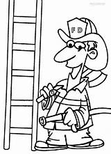 Fireman Coloring Pages Printable Firefighter Drawing Tools Axe Sheets Hat Cool2bkids Getdrawings Helmet Getcoloringpages Clipartmag Tool Colorings sketch template