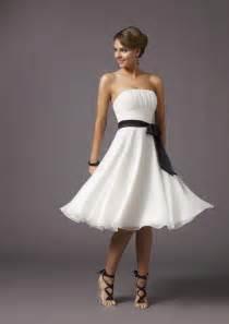 black bridesmaid dresses strapless knee length black sash chiffon white bridesmaid dresses zoombridal prlog