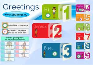 greetings in for elementary students to learn to learn