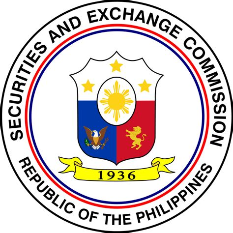 what is sec file seal of the philippine securities and exchange commission svg wikimedia commons
