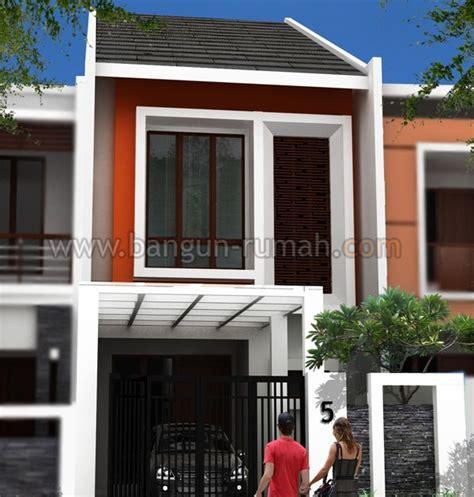 desain rumah lebar  meter  lantai contoh
