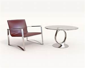 Modern, Comfortable, Reading, Chair, 2, 3d