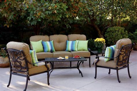 Adirondack chairs are a favorite patio furniture piece for a reason: Patio Furniture Deep Seating Set Cast Aluminum 5pc Santa Monica