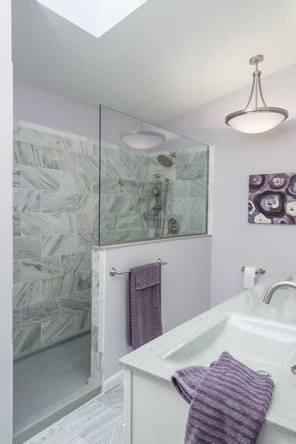 purple  gray bathroom contemporary bathroom st