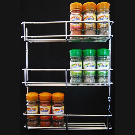 Spice Rack Holder by Spice Rack Herb Jar Holder 300mm Chrome 3 Tier Kitchen