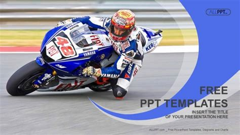 Motorcycle Racing Into A Fast Corner On Track Powerpoint