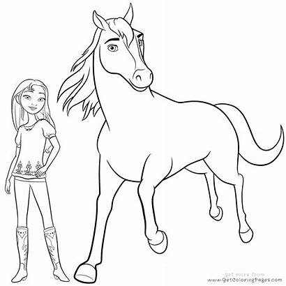 Spirit Coloring Horse Pages Riding Colour Printable