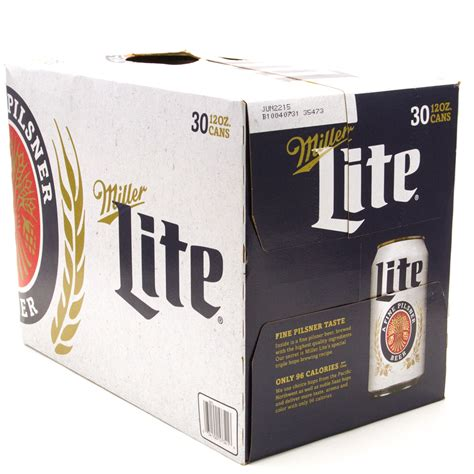 light 30 pack price miller lite 30 pack 12oz cans wine and liquor