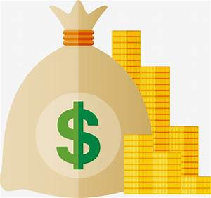Pocket money vector, Purse, Hand Painted, Gold PNG and ...