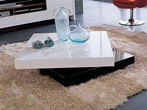 Table Basse Noir Laqué : table basse rectangulaire camy en mdf laqu blanc et noir 56800 ~ Teatrodelosmanantiales.com Idées de Décoration