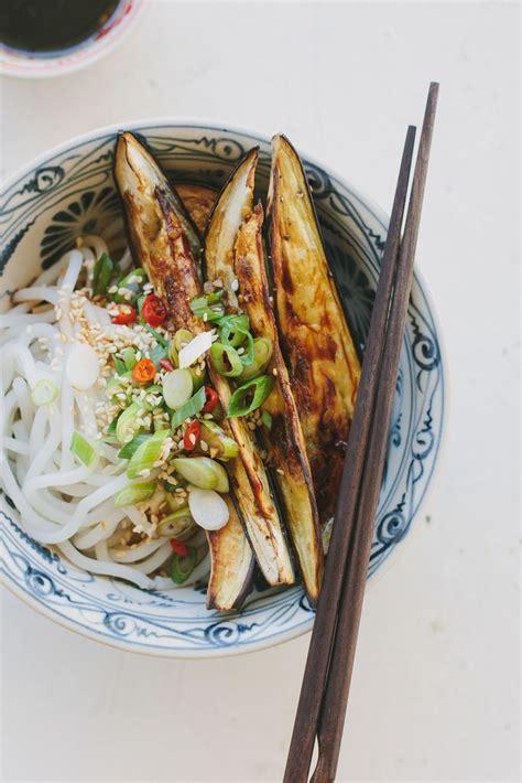roasted eggplant noodles  chinese black vinegar