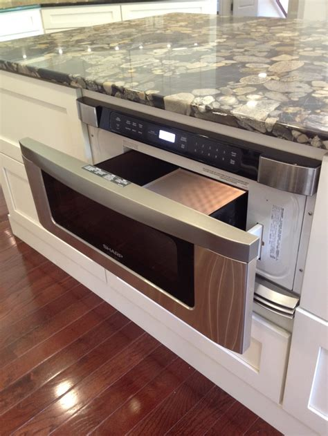 microwave in kitchen island drawer microwave in kitchen island j homes inc