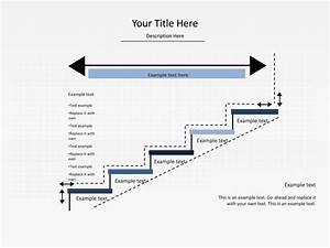 Powerpoint Slide - Step Up Process Diagram - Arrow