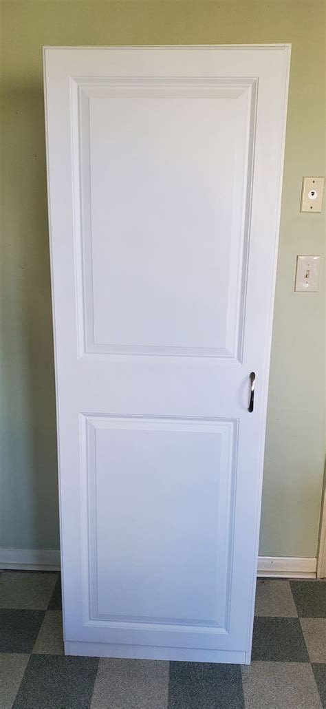 freestanding white single door cabinet pantry  inches
