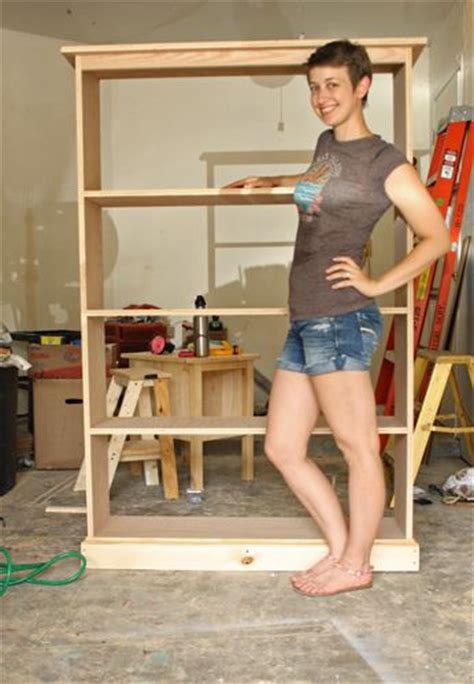 build bookcase plans build  simple pine bookshelf