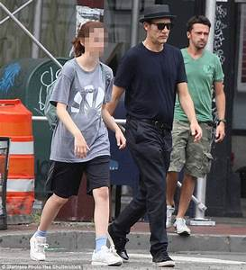 Clive Owen spends the day in New York with his youngest ...