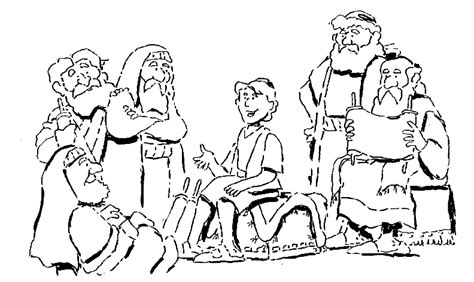 Jesus Teaching Temple Coloring Pages