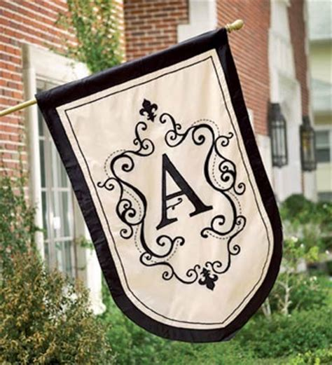 monogram garden flags traditional flags and flagpoles