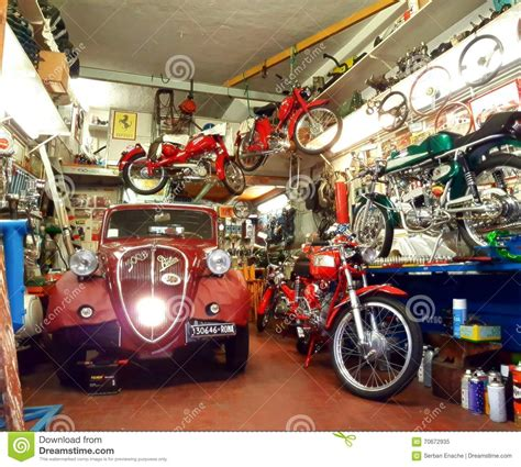 Vintage Car In Garage Royaltyfree Stock Image