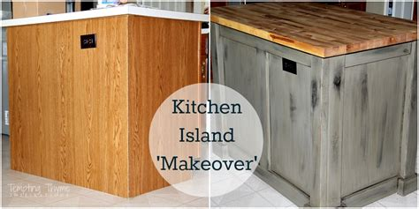 kitchen island makeover ideas kitchen island makeover tempting thyme 5112