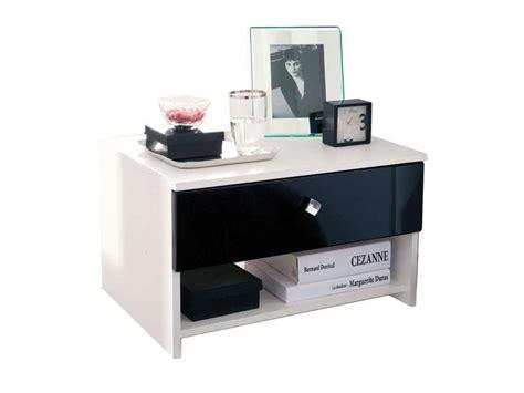 chambre conforama adulte table de chevet noir et blanc