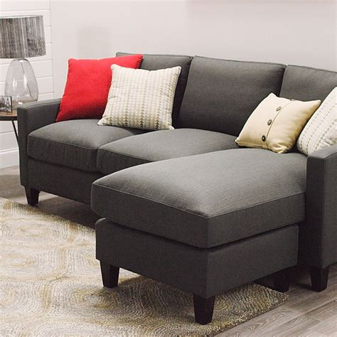 Charcoal Gray Textured Woven Abbott Sofa World Market