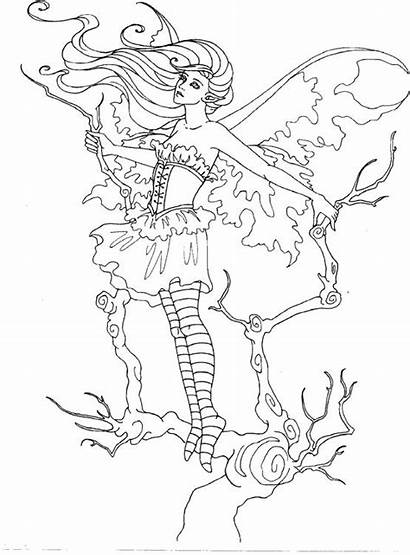 Coloring Pages Fairy Amy Brown Adult Strange