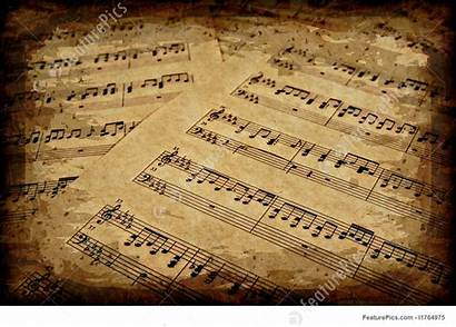 Notes Paper Musical Parchment Brown Sheet Background