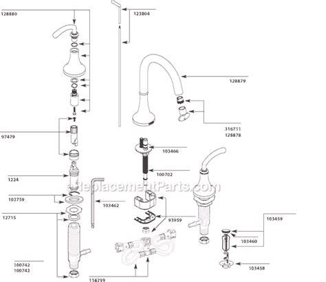 moen faucet aerator diagram moen faucet parts diagram images