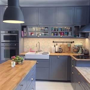 Cuisine Ikea Blanche Et Bois : nouvelle cuisine ikea bodbyn gris metod tendance ~ Dailycaller-alerts.com Idées de Décoration